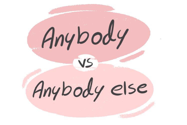 """Anybody"" vs. ""Anybody Else"" in the English Grammar"