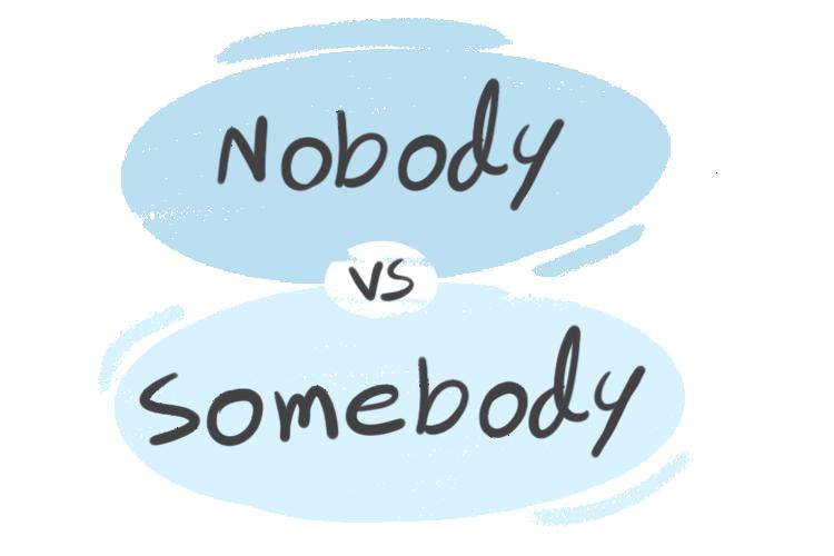 """""""Nobody"""" vs. """"Somebody"""" in the English Grammar"""
